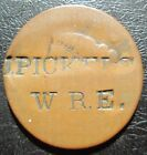 J.PICKELS / W.R.E. COUNTERSTAMP ON LARGE CENT BOTH SIDES