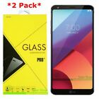 2 Pack Premium Tempered Glass Screen Protector For LG G6 G6+ Plus