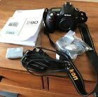Excellent+++++ Nikon D90 123 MP Digital SLR Camera Black w 28 70mm from Japan