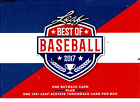 2017 LEAF BEST OF BASEBALL HOBBY BOX  BUY 2 OR MORE SAVE $5