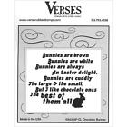 VERSES RUBBER STAMPS CLING CHOCOLATE BUNNY NEW cling STAMP