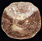 Vintage JOHNSON BROTHERS Set 2 - Square Cereal Bowls OLDE ENGLISH COUNTRYSIDE