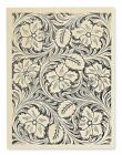 LEATHER FLOWERS Rubber Stamp R223 Stampendous Brand NEW floral background