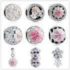 2017New European Silver CZ Charm Beads Fit sterling 925 Necklace Bracelet Chain