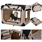 New 4 Sizes Pet Dog Carrier Portable House Soft Sided Cat Travel Tote Bag Sandy