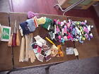 Sewing lot over 50 Embroidery Thread quilt threads needles rug tools in Tin