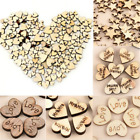 100pcs set Rustic Wooden Wood Love Heart Wedding Table Scatter Decoration Crafts