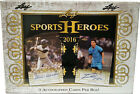 Leaf 2016 Sports Heroes Factory Sealed Box with 3 Autographs