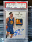 2012-13 Immaculate Klay Thompson Rookie Patch Auto # 100 PSA 10 RC Warriors W1