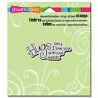 STAMPENDOUS RUBBER STAMPS CLING HUGS SAY I LOVE YOU NEW cling STAMP
