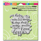 STAMPENDOUS RUBBER STAMPS CLING BABY MAKES NEW cling STAMP