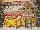 NWT Set of 4 KATE McROSTIE Cotton Christmas Placemats Village Stores