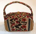 VINTAGE Tapestry Carpet Bag Handbag Purse Multi-Color.