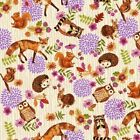 Studio E Enchanted Forest by Jennifer Brinley 3832 44 Cream Toss Cotton Fab BTY