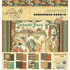 Graphic 45 Double Sided Paper Pad 8X8 24 Pkg Enchanted Forest 8 818695017193
