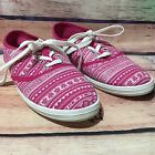 385 Fifth Canvas Sneakers Women Size 8 Pink White