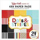 Echo Park Double Sided Paper Pad 6X6 24 Pkg Dots  Stripes Magic 083832280116