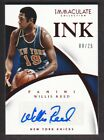 2014-15 Immaculate Ink Autograph Red #28 Willis Reed Auto 08 25 New York Knicks