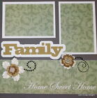 SEWN PREMADE Scrapbook Page 12x12 Layout FAMILY Mom Dad siblings MSND Jenn