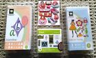 NEW 3 Cricut Cartridges FOREVER YOUNG+ORNAMENTAL IRON+JASMINE+11 Stickers