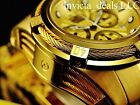 Invicta Men's 52MM Bolt ZEUS Swiss Chronograph 18k All Gold Tone Cables SS Watch