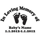 In Loving Memory Decal Car Truck Vinyl Window Sticker Personalized Name Baby