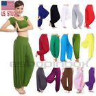 US Women Harem Genie Aladdin Pants Causal Baggy Gypsy Loose Dance Yoga Trousers