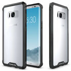 For Samsung Galaxy S8 S8 Plus Clear TPU Case Shockproof Bumper Black Frame Cover
