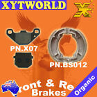 FRONT REAR Brake Pads Shoes for HYOSUNG KR 110 Master 2004 2005