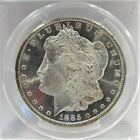 Vintage 1885 CC Morgan Silver Dollar Coin PCGS MS66 Proof Like WOW FL3 07