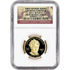 2011 W US First Spouse Gold 1 2 oz Proof 10 Lucretia Garfield NGC PF70 UCAM