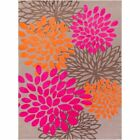 Abigail Kids Rug by Surya Pink Orange Light Gray Camel