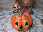 FITZ & FLOYD HALLOWEEN WITCH HAZEL PUMPKIN COOKIE JAR MIB RETIRED!