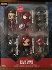 Hot Toys Captain America Civil War Cosbaby Exclusive Set of 6 Spiderman Iron Man