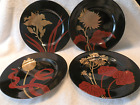 FITZ & FLOYD IMPERIAL GARDEN 4 PLATES 7 12 INCH 4 DIFFERENT FLOWER SCENES