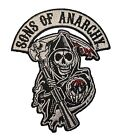 Sons Of Anarchy Grim Reaper Logo Biker Embroidered Iron On Applique Patch