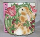 Fitz and Floyd Blackberry Rabbit Bunny Canape Plate In Box