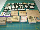 scrapbooking stamps huge lot asst stamps foam and wood new and used