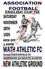 Wath Athletic - Vintage Football Poster POSTCARDS - Choose from list