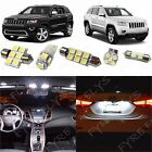 12x White LED interior lights package kit for 2011 2017 Jeep Grand Cherokee JG1W