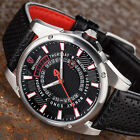 DETOMASO BUSINESS PUNK Mens Wrist Watch Stainless Steel Black Red Day