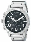 Nixon 51-30 Chronograph Black Dial Stainless Steel Mens Watchs Watch A083-000