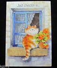 Leanin Tree Thinking Of You Cat Cats Greeting Card Multi Color R141