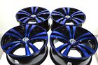 17 blue Wheels Rims Fusion Sonata Accord Civic Camry XB TC Corolla 5x100 5x1143