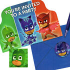 PJ MASKS INVITATIONS 8 Birthday Party Supplies Stationery Cards Notes Disney