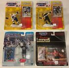 4 Starting Lineup NHL Hockey Action Figures Cards - Lemieux Hull Esposito Grier