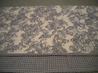 WAVERLY GARDEN ROOM Blue/White GARDEN TOILE VALANCE French Cottage Chic EUC