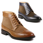 La Milano Mens Wing Tip Oxford Leather Suede Boots B51315