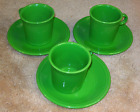 Set of 3 Fiesta Shamrock Cups and Saucers (609)