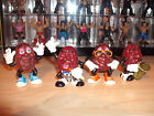 Vintage 1987 California Raisins COMPLETE BAND with Justin Grape hardees toy lot